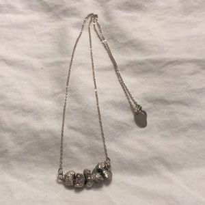 Nashelle plated stone necklace